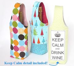 (9) Name: 'Sewing : No Bias Tape Simple Wine Tote