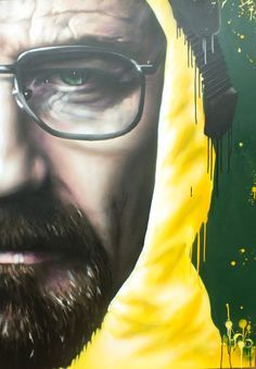 Rogue One - Walt, Glasgow. Breaking Bad Series, Breaking Bad Poster, Breaking Bad Seasons, Breaking Bad Movie, Braking Bad, Photo Repair, Fan Art, Street Art Graffiti, Cosplay
