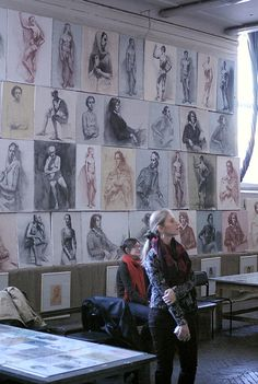 classical figure drawing and the contemporary realism of hedwardbrooks: The Russian Academy