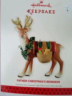 Hallmark Ornament 2013 Limited Edition Father Christmas's Reindeer