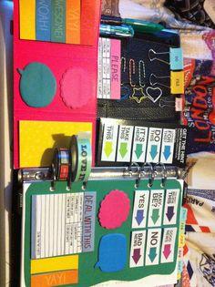 Dashboard ideas. Planner ideas.  Filofax ideas