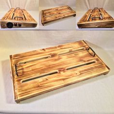 Hot Box 2.0 XL Deluxe - Burned Pine by KYHBPB – Kentucky Hot Brown Pedalboards & Wood Products