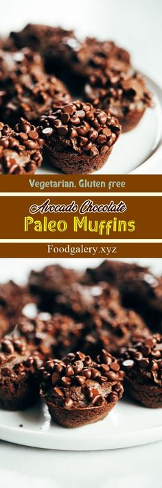 AVOCADO CHOCOLATE PALEO MUFFINS Spicy Recipes, Drink Recipes, Keto Recipes, Cake Recipes, Cooking Recipes, Healthy Recipes, Recipes Dinner, Breakfast Recipes, Peanut Butter Blondies Recipe