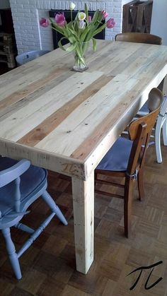 creative mind home of ideas Multiproject Pallet Ideas in 2019 Pallet dining table, Pallet 21 Cool DIY Dining Table Makeovers ideas YouT. Diy Pallet Furniture, Diy Pallet Projects, Pallet Ideas, Furniture Projects, Table Furniture, Office Furniture, Geek Furniture, Primitive Furniture, Furniture Dolly