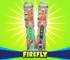 There's a new way to fight the dark forces of cavities with Firefly Star Wars Ready Go Brushes.