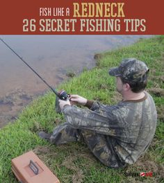 The wackiest and most creative fishing tips. | http://survivallife.com/2014/04/21/fish-like-a-redneck-26-wacky-fishing-tips/