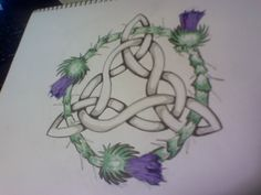 Celtic knot tattoo by on deviantART. Not something I drew but a great idea. Tribal Tattoos, Tattoos Skull, Sleeve Tattoos, Tatoos, Geometric Tattoos, Baby Tattoos, Feather Tattoos, Trinity Knot Tattoo, Celtic Knot Tattoo