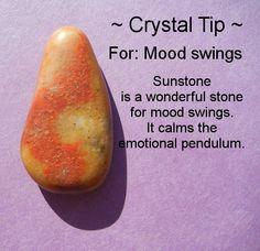 Crystal Healing- Sunstone For Mood Swings Crystal Magic, Crystal Healing Stones, Crystal Grid, Crystals And Gemstones, Stones And Crystals, Gem Stones, Chakra Crystals, Chakra Stones, Reiki