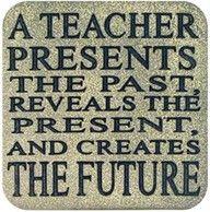 A teacher presents the past . . .