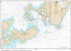 Offical Noaa Chart of Woods Hole 13235 by HyannisMarina on Etsy