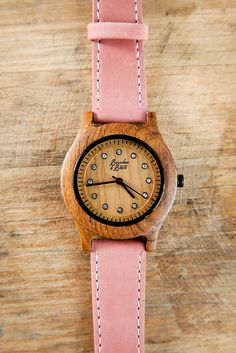 All Natural Walnut Wood Watch with Leather Strap