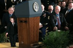 A pint-sized stand-in for the president (Photo: Win McNamee / Getty Images)
