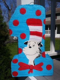 Ready to ShipCat in the Hat Pinata Cat in the Hat by LaAranita
