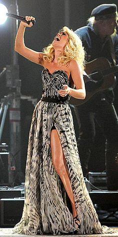 the slit with a short skirt under? fantastic.