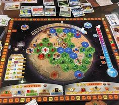 I'm counting down my top 10 games of 2016... number 6 is TERRAFORMING MARS! This is a euro game about colonising and Terraforming the red planet. #BoardGames #TerraformingMars @strongholdgames