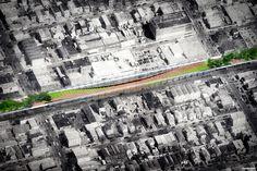 nooyoon proposes upside down bridge connector for queensway NY - designboom | architecture & design magazine
