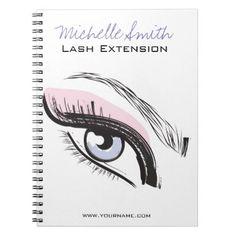 #beauty - #Eye long eyelashes Lash extension icon Spiral Notebook