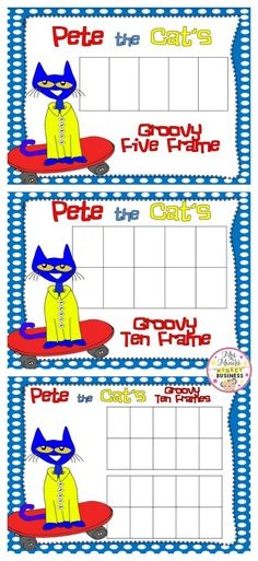Math Game for Kids: Pete the Cat and His Four Groovy Buttons | Math ...