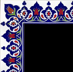 10x20 Çini Bordürler Turkey Art, Tie Dye Crafts, Decorated Wine Glasses, Turkish Design, Decoupage, Turkish Tiles, Inspirational Wall Art, Cross Stitch Flowers, Corner Designs