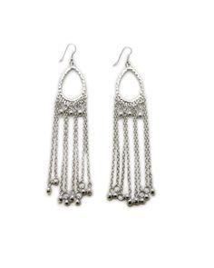 The Silver Chain Fringe Earrings by JewelMint.com, $25.00