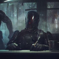 A genre of science fiction and a lawless subculture in an oppressive society dominated by computer technology and big corporations. Futuristic Armour, Futuristic Art, Character Concept, Character Art, Character Design, Science Fiction, Steampunk, Armor Concept, Concept Art