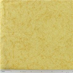 """Yellow Crackled Texture Fabric is 44"""" wide and 100% cotton.    CARE INSTRUCTIONS - Machine Wash, Warm; Tumble Dry; Remove Promptly.    Available in 1-yard increments. Average bolt size is approximately 12 yards. Price displayed is for 1-yard. Enter the total number of yards you want to order."""