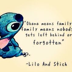 For the love of disney and family <3 blood or not.  Family means no one gets left behind or forgotten.