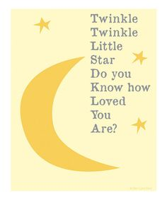 Take a look at this 'Twinkle Twinkle' Print by Ellen Crimi-Trent on #zulily today!