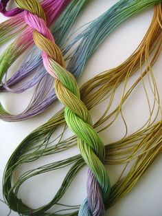 Fall Afternoon - size 20 hand dyed tatting and crochet cotton - 6 cord cordonnet by Yarnplayer
