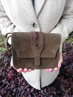 Dark brown leather evening bag for women, Elegant crossbody shoulder bag purse, Small and unique women's boho bag, A unique gift for wife or yourself! Red Bags, Brown Bags, Shoulder Purse, Crossbody Shoulder Bag, Leather Evening Bags, Boho Crossbody Bag, Small Messenger Bag, Black Leather Bags, Brown Leather