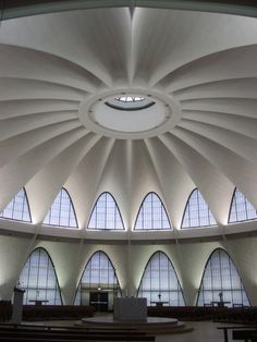 not really a hyperbolic paraboloid but seems appropriate... Priory Chapel in St. Louis, MO by HOK (Gyo Obata) photo credit: one of us in Modernism in STL (I think this one was mine, but not sure) thanks Jim Harris #WUSTL