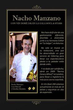 Vin Doré 24K en la Gala SOUL & STARS contra el hambre infantil, junto a seis Estrellas Michelín - Nacho Manzano Chef
