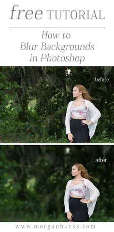 How to believably blur backgrounds in Photoshop! (Without the funky edges and halo effects!) | Find more free tutorials at www.morganburks.com