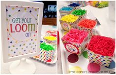 Amazing Rainbow Loom party from @eyecandycreate  You won't want to miss the cake!!!!