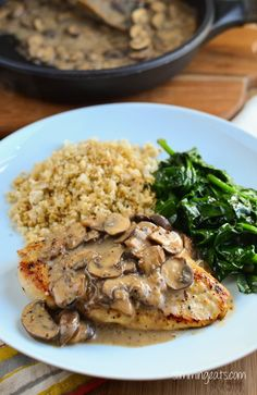 Slimming Eats Chicken with Creamy Mushroom Sauce - Gluten Free, Dairy Free…
