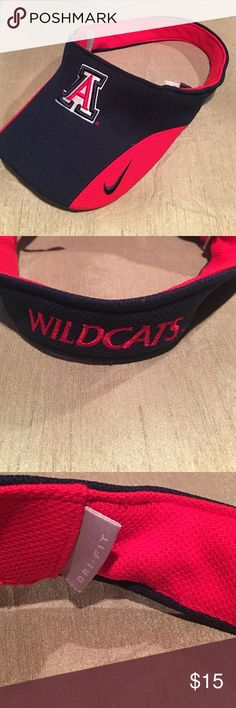 Arizona Wildcats NIKE visor - like new Arizona Wildcats NIKE visor - like new excellent condition however there is a name written on the inside label which is not seen when worn. Nike Accessories Hats