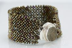 ... right angle weave and small farfalle beads. Jewelry__0255