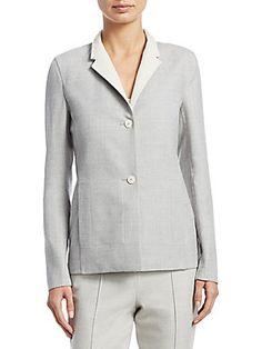 Akris Oberon Reversible Wool Jacket