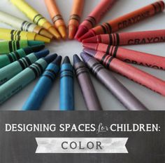 Designing Spaces for Children: Color - Playful Learning  Like the idea of using jam jars for paint cups and organizers.