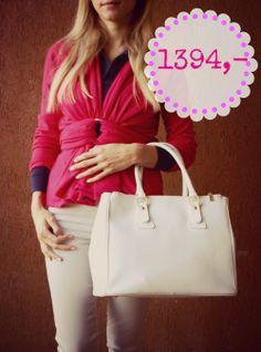Bílá kožená kabelka vyrobená v Itálii, cena pro Facebook fanoušky jen 1394 Kč Sledujte Facebook Siena Style