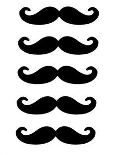 Moustache printables photo prop printable