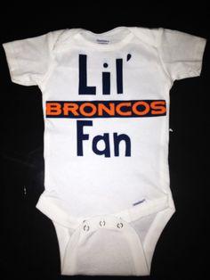 Denver Broncos Handmade Onesie or Shirt by LittleBitsByJulie