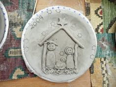 Christmas Clay Projects - Nativity Plates