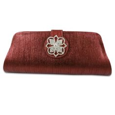 Stylish and chic velvet clutch/handbag in maroon color with a stunning flap brooch at the front of the clutch. Designer Clutch, Maroon Color, How To Make Notes, Leather Fabric, Clutch Purse, Purses And Handbags, Red Velvet, Zip Around Wallet, Fashion Accessories