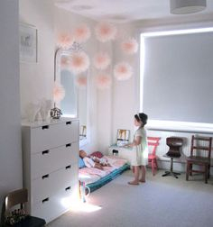 those puffs!  perfect little princess poofs...Cute inexpensive way to personalize a princesses space.