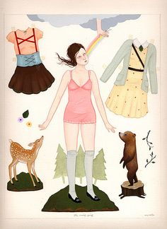 Amy Earles paper doll