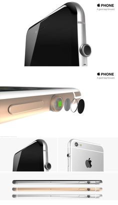 iPhone 7 concept video envisions the device with a killer Apple Watch crown Gadgets And Gizmos, Technology Gadgets, Tech Gadgets, Cool Gadgets, Phone Gadgets, Iphone 2g, New Iphone, Apple Iphone, Iphone 6 S Plus
