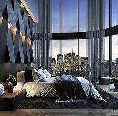 Contemporary bedroom by Stab Studio - Architecture and Home Decor - Bedroom - Bathroom - Kitchen And Living Room Interior Design Decorating Ideas - Design Apartment, Dream Apartment, Penthouse Apartment, Contemporary Doors, Contemporary Bedroom, Contemporary Cottage, Contemporary Wallpaper, Contemporary Office, Contemporary Style