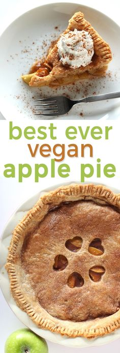 Good old fashioned apple pie in vegan form! This is literally the best apple pie ever, with an easy flaky crust and a amazing filling of tart apples enrobed in cinnamon and sweetness! Vegan Pie, Vegan Foods, Vegan Apple Pies, Vegan Apple Cake, Vegan Butter, Apple Pie Recipes, Vegan Dessert Recipes, Vegan Treats, Vegan Snacks