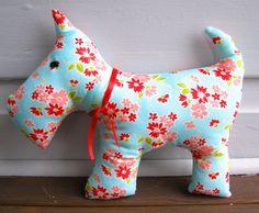 Scottie Dog Plush Toy softie dog stuffed dog by BlackTulipQuilts